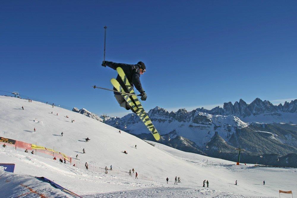Varied slopes in the ski resort Brixen / Plose